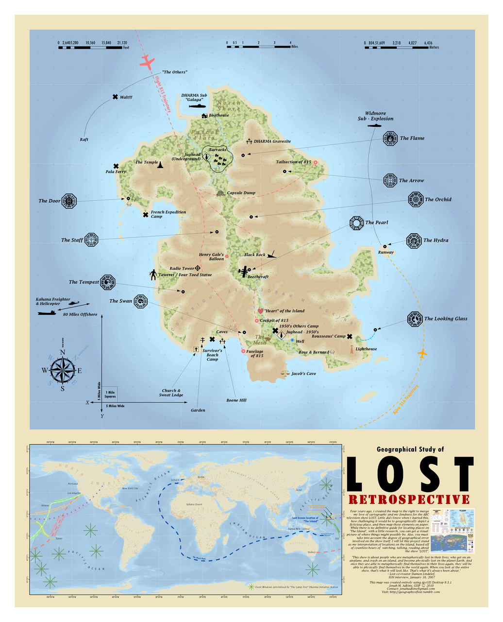 Lost Island Map Tv Show