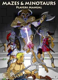Livro do Jogador Mazes & Minotaurs - Capa
