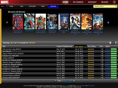 Marvel Comics on Chrome