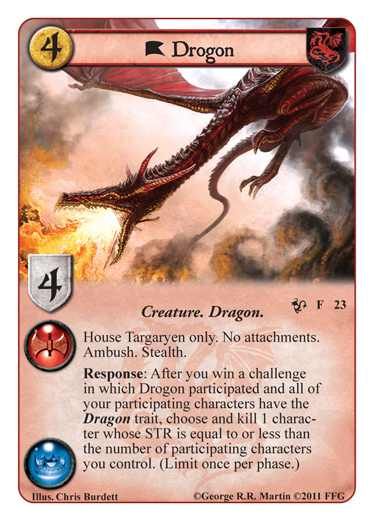 Game of Thrones LCG - Queen of Dragons - Drogon