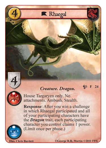 Game of Thrones LCG - Queen of Dragons Rhaegal