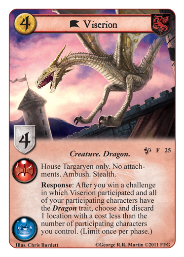 Game of Thrones LCG - Queen of Dragons - Viserion