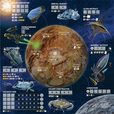 Alien Frontiers Tabuleiro