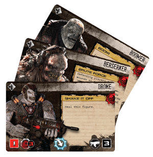 Gears of War: The Boardgame enemy cards