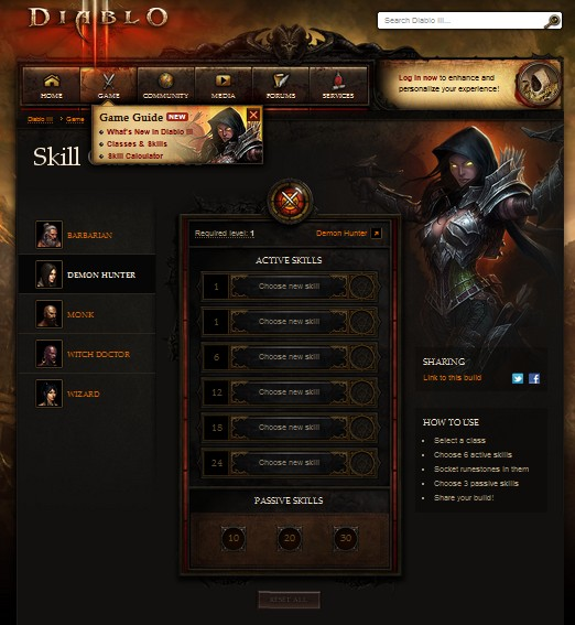 Diablo III Skill Calculator