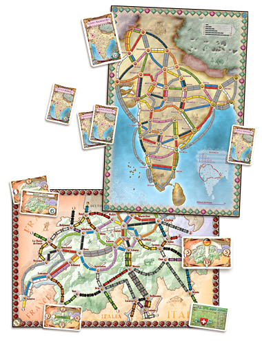 Ticket to Ride Map Collection - india