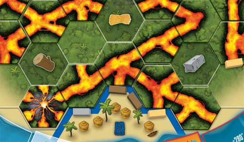 Eruption board-game