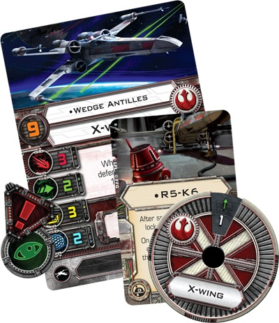 Star Wars X-Wing Miniatures - Componentes