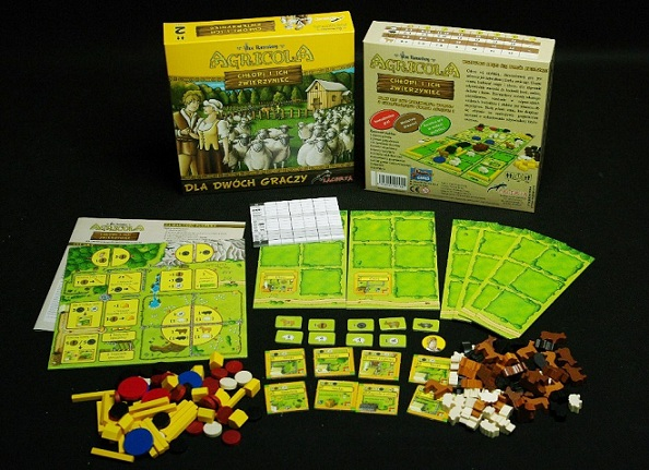 Agricola All Creatures Big and Small componentes
