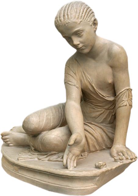Estatua romana - Chica Jugar Astragaloi 14 AC