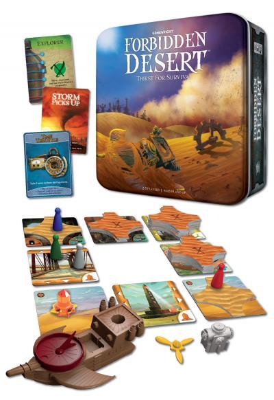 Forbidden Desert Componentes