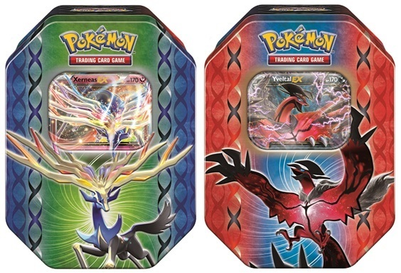 Pokemon TCG Legends of Kalos Tins