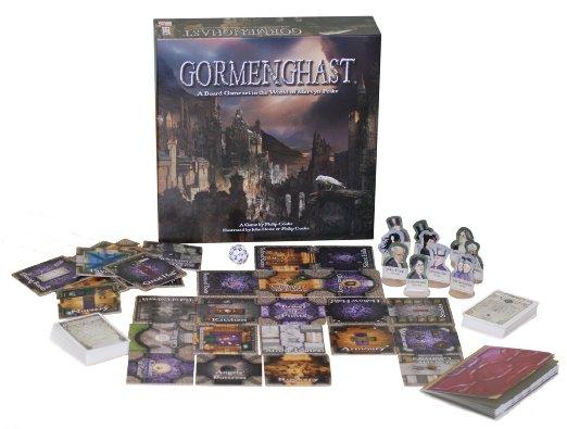 Gormenghast Board Game Componentes